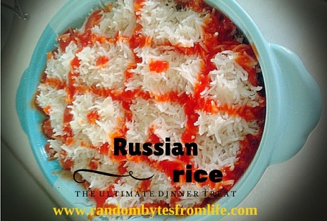Russian rice, easy recipe, quick rice recipe, cooking, culinary